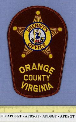 ORANGE COUNTY SHERIFF VIRGINIA VA Sheriff Police Patch STATE SEAL