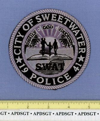 SWEETWATER ~ SWAT ~ FLORIDA FL Police Patch SUBDUED GOD SCHOOL BOOK BIBLE