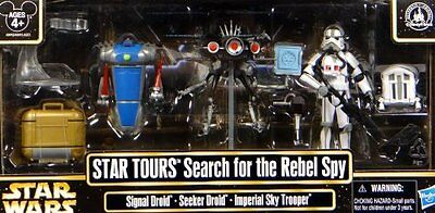 Disney STAR WARS WEEKENDS 2013 Tours Search for the Rebel Spy Figure Set MINT!