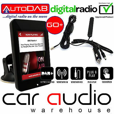 "AutoDAB-GO+ 3.5"" Dash Mount Plug n Play Universal In Car DAB Digital Radio Tuner"