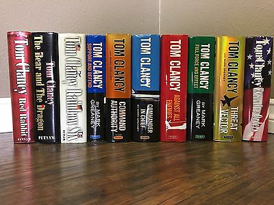 Lot Of 10 Tom Clancy Hardcovers FREE SHIPPING