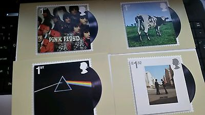Pink floyd 2016 phq 417 mont cards set of 11 postcards royal mail christmas