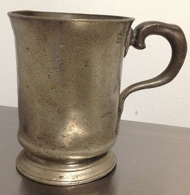 Antique 1800'S Victorian Pewter 1 Pint Tankard R DAVIS 419 OLD KENT ROAD +ASSAY