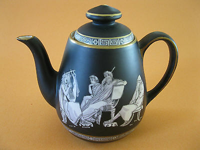 "Pratt--Fenton--""Old Greek"" Matte Black Teapot"