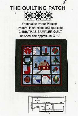 Christmas Sampler wall hanging quilt pattern - The Quilting Patch