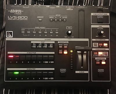Roland LVS 800 Vision Mixer Live Switcher with monitors
