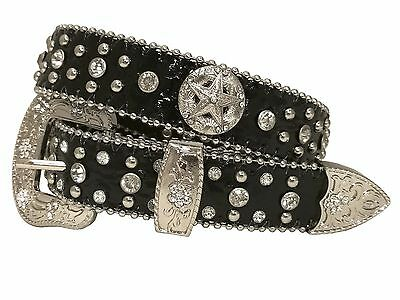 West Star Western Cowboy Cowgirl Shiny Star  Kid's Belts