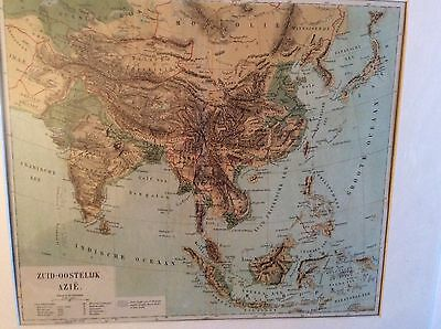 Antique maps from 1876,SE Asia,Austria and Hungary