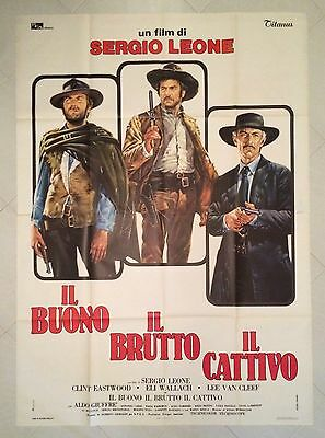 The Good The Bad And The Ugly Original Italian Movie Poster 4Sh. Eastwood Leone