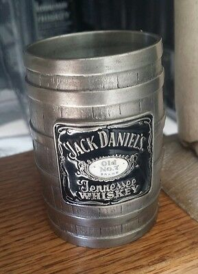 ↗ VINTAGE PEWTER ENAMBLED ↖ 2000 Jack Daniels ☆☆ BERGAMOT BARREL ☆☆ Shot Glass