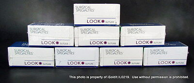 """LOT 8 NEW BOXES SURGICAL SPECIALTIES LOOK SUTURE THREAD 944B Nylon 10"""""""