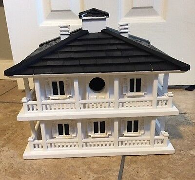 New Clubhouse Bird House Home Bazaar Wood White Bird Lovers Elegant