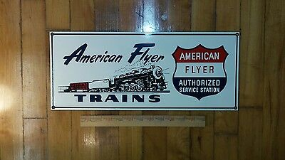Vintage American Flyer sign in near mint condition