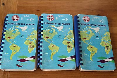 Sawyers Viewmaster View - Master Holder Albums / Binders X3 Very Good Condition