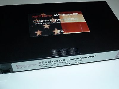 MADONNA American Pie UK VHS PROMO VIDEO Official STICKERED CASE Next Best Thing