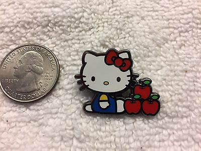 Official Sanrio Hello Kitty Sitting With Apples Lapel Pin Free Shipping in USA
