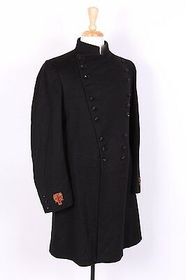 Vtg 20S Priest Clergy Wool Frock Coat Jacket Usa Mens Size 36-38