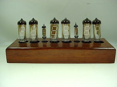 Vacuum Tube Clock Nixie Alarm Clock - Works - Runs Fast