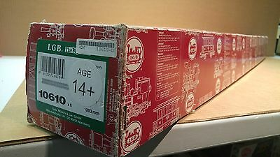 Lgb 10610 Brass 4 Foot Straight Track Case Of 6 Pieces Brand New In Box!