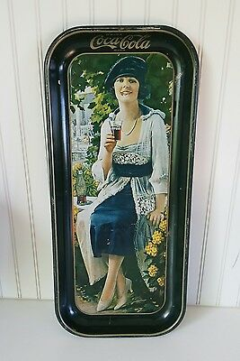 1921 DRINK COCA-COLA Serving Tray Tin Advertise  LITHOGRAPH Large ELAINE COKE