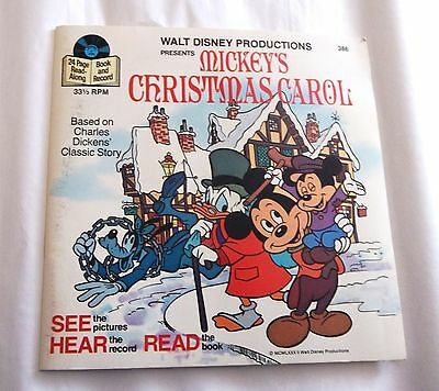 "Little Golden Book 24 Page+Record, ""mickey's Christmas  Carol"", 33-1/3 Record"