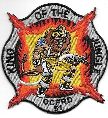 "Orange County  Station - 51  ""King of Jungle"", FL (4"" x 4"" size) fire patch"
