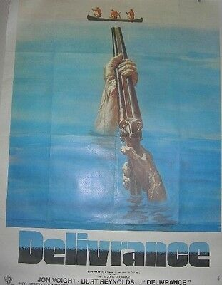 HUGE, ORIGINAL FRENCH 'DELIVERANCE' FILM POSTER 1972. 153 cm X 115 cm (APPROX').