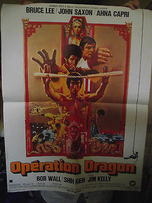 Genuine French, 'enter The Dragon'( 'operation Dragon' ) 1973 Cinema Poster.