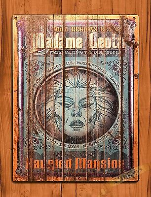 "Disney Tin Sign ""Madame Leota"" Art Ride Movie Poster Haunted Mansion"