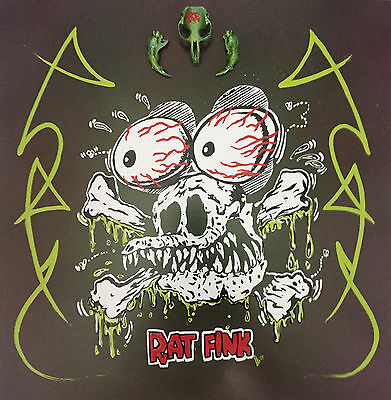 Original Pinstriped Rat Fink Kustom Low Brow Steel Panel. Cool!