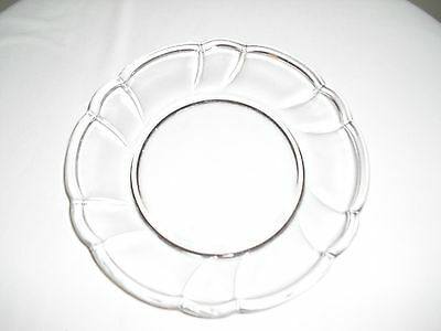 NORITAKE Sweet Swirl CLEAR Luncheon / Salad Plate
