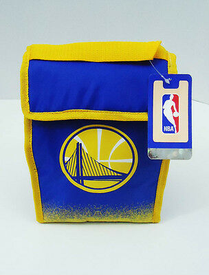 """Golden State Warriors Lunch Bag Cooler Box Tote New NBA 8"""" x 11"""" x 4"""""""