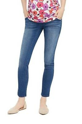 Maternity Oh Baby by Motherhood Secret Fit Belly Faded Skinny Jeans-NWT-Size L