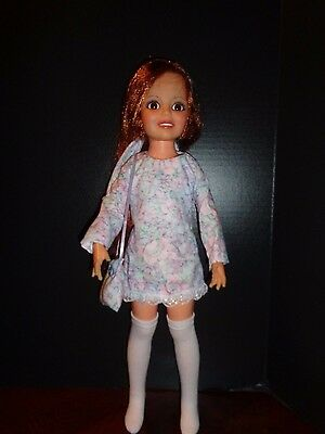 Pretty Flower Dress  Outfit For Ideal Crissy Doll With Socks