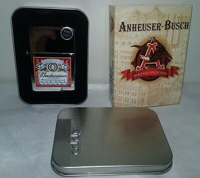 2003 Budweiser '96 Beer Logo Chrome Zippo Advertising Cigarette Lighter Unfired