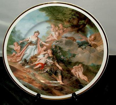 T. Limoges LG Hand Painted Porcelain Plate Shabby Chic Cherub Angel Putti France
