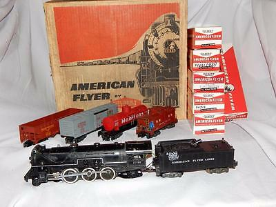 1958 American Flyer 20435 METEOR NYNH&H Steam Set 21099 24419 Canadian 24216 977
