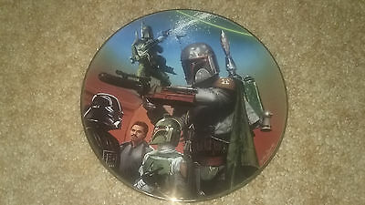 Star Wars Boba Fett Collectors Plate From The Hamilton Collection