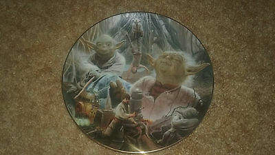 Star Wars Yoda Collectors Plate From The Hamilton Collection