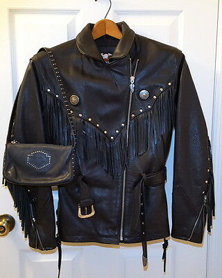 Harley Davidson Women's Leather Jacket Size Small
