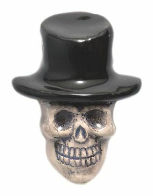 Shipwreck Beads 20 by 27mm Peruvian Hand Crafted Ceramic Skull Top Hat Beads ...