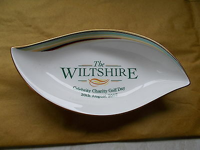 The Wiltshire Celebrity Charity Golf Day Souvenir 20/8/2007  Leaf Shaped Bowl