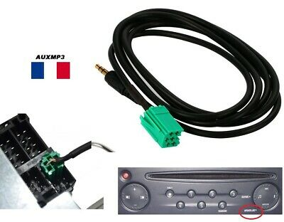 Cable AUX auxiliaire mp3 autoradio RENAULT UPDATE LIST 6pin clio scenic trafic