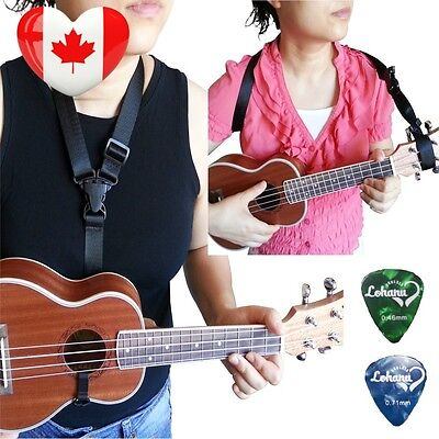 Ukulele Strap Clip On Black Color Adjustable In Various Length From Lohanu...