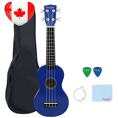 21 Inch Soprano Ukulele Kids Student Hawaiian Starter Package Light Blue