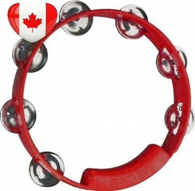 RhythmTech TC4038 8 Inch True Colors Tambourine, Red
