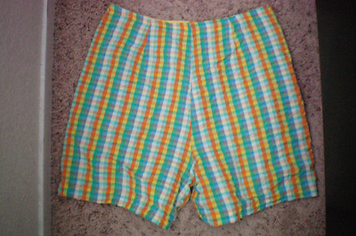 Vtg Vintage Handmade High Waist Shorts Sz S M Pin Up Rockabilly