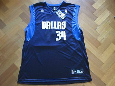 BNWT Adidas 2012 NBA Basketball Dallas Mavericks #34 Devlin Harris Vest Adult XL