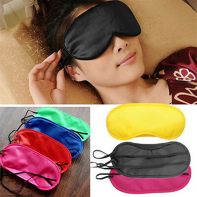 Hot Sale Pure Silk Sleep Eye Mask Padded Shade Cover Travel Relax Aid Blindfold