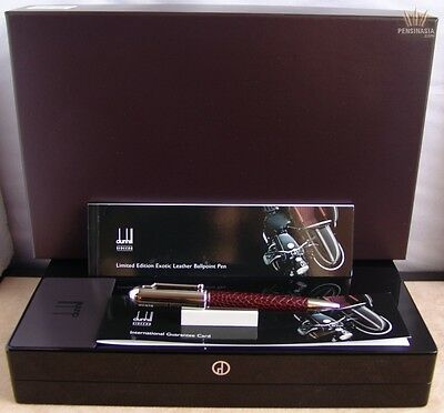 Dunhill Limited Edition Sidecar Ostrich Foot Leather Chassis Ox Ball Point Pen !